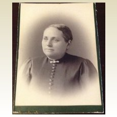 Antique Cabinet Card Woman