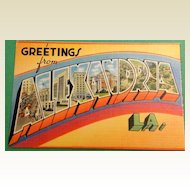 Vintage Greetings From Alexandria Louisiana Postcard