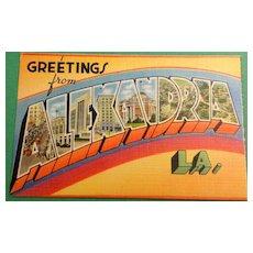 Vintage Greetings From Alexandria Louisiana Postcard