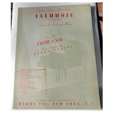 1944 Vintage Sheet Music Jalousie (Jealousy)