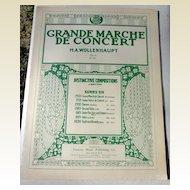 1909 Sheet Music Grande Marche De Concert