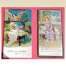 Victorian Religious German Chromolithograph Cards