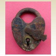 Vintage Metal Pad Lock