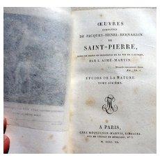 1820 Complete Works Of Jacques Henri Bernardin de Saint - Pierre