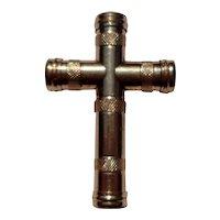 Victorian Gold Filled Cross Brooch