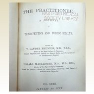 1884 The Practitioner A Journal Of The Therapeutic & Public Health T. Launder Brunton