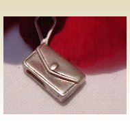 Vintage Sterling Silver Clutch Purse Charm