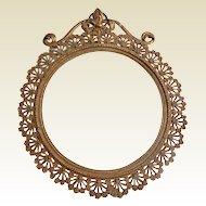 Lovely Art Nouveau French Gold Gilt Metal Frame