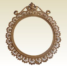 Lovely Art Nouveau French Gold Gilt Metal Frame