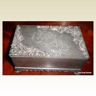 Victorian Silver Plate Jewelry Casket Jewelry Box