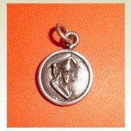 Vintage Sterling Silver Graduate Charm Pendant