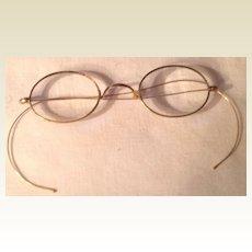 Vintage Gold Filled Rimmed Wire Eye Glasses