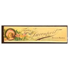 July 1888 - June 1889 Fanny Davenport Lithograph Book Mark