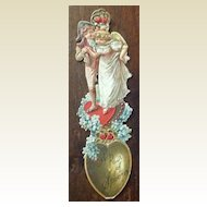 Victorian Lithograph No. 239  A Pair Of Spoons Book Mark