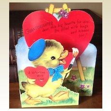 1950 Vintage Rust Craft  Valentine Stand Up Card