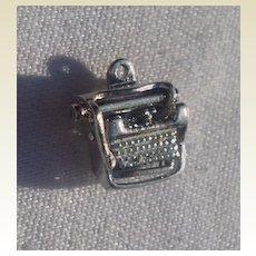 Vintage Sterling Silver Mechanical Typewriter Charm