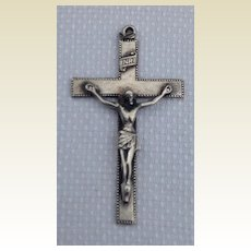 Vintage Sterling Silver Creed Crucifix