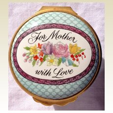 "Halcyon Days Enamel ""Mothers Day"" Box"