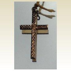 Vintage Gold Filled Cross Pendant