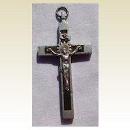 Old Aluminum & Ebony Crucifix