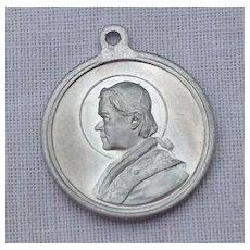 Vintage St. Pius X Pray For Us Medal Pendant