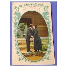 Antique I Can't Forget You Post Card