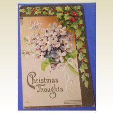 1914 Embossed Christmas Post Card