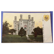 Vintage Old State Capitol Baton Rouge Louisiana Post Card