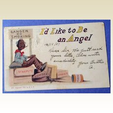 1907 Antique I'd Like To Be An Angel Post Card