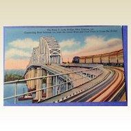 Vintage Huey P. Long Bridge New Orleans
