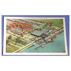 Vintage American Sugar Refinery New Orleans Post Card