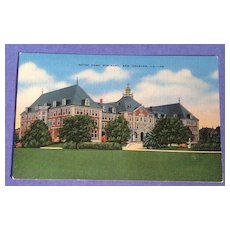 Vintage Notre Dame Seminary New Orleans Post Card