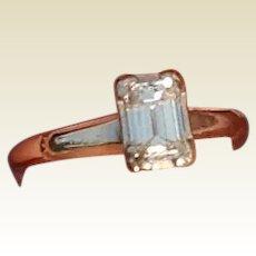 Beautiful 14K White Gold Emerald Cut Diamond Engagement Ring