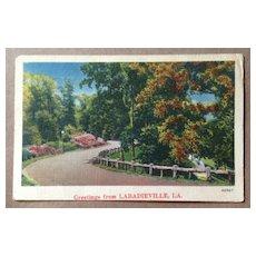 1952 Vintage Labadieville, Louisiana Post Card