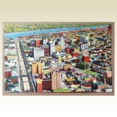 Vintage  Air View Of New Orleans The Modern Metropolis Post Card