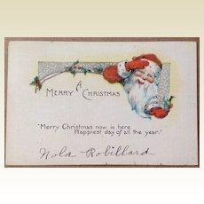 Art Deco A Merry Christmas Post Card