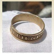 Vintage Gold Tone Metal Friendship Band Ring