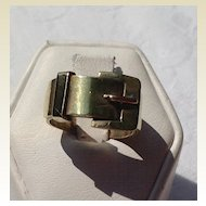 Vintage Gold Filled Buckle Ring