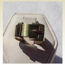 Vintage Gold Filled Buckle Ring