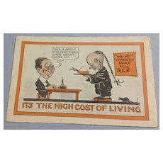 Vintage No. 2177 Hi Cost Of Living Comic Post Card