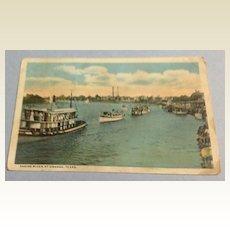 Vintage 1917 Sabine River At Orange Texas Post Card