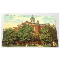 Vintage  Cuyahoga Falls Ohio High School Post Card