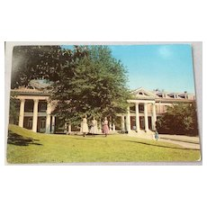 Vintage William Mercer Green Hall All Saints' Episcopal Junior College Vicksburg Mississippi Post Card