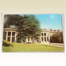 Vintage William Mercer Green Hall All Saints' Episcopal Junior College Vicksburg Mississippi Post Card