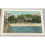 Vintage Hotel Buena Vista Biloxi Mississippi Post Card