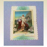 Vintage Chromolithograph Religious Scrap Card