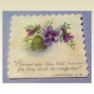 Vintage Chromolithograph Religious  Matthew 5:4 Scrap