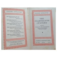 1929 The Eighteenth Century English Literature