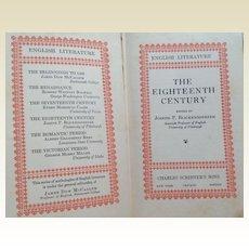 1929 The Eighteenth Century English Literature