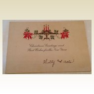 Art Deco Christmas Greetings & New Year Card